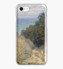 Claude Monet - Road at La Cavée  Pourville  iPhone Case/Skin