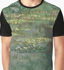 Claude Monet - Le Bassin des Nympheas (1904) French  Impressionism. Famous paintings Claude Monet Graphic T-Shirt