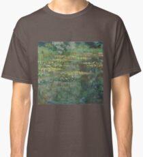 Claude Monet - Le Bassin des Nympheas (1904) French  Impressionism. Famous paintings Claude Monet Classic T-Shirt