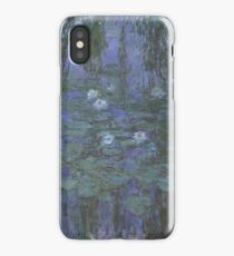 Claude Monet - Blue Water Lilies (1916 - 1919) iPhone Case/Skin