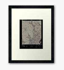 USGS TOPO Map Alabama AL Doran Cove 20100510 TM Inverted Framed Print