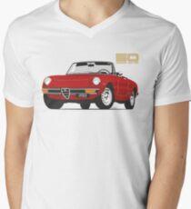 Alfa Romeo Series 2 Spider red Men's V-Neck T-Shirt