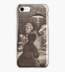 Vincent Van Gogh - The potato eaters 1885 (sketch) iPhone Case/Skin