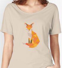 Geometric Fox Women's Relaxed Fit T-Shirt