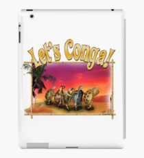 Turtle and Tortoise Conga Line on the Beach at Sunset iPad Case/Skin