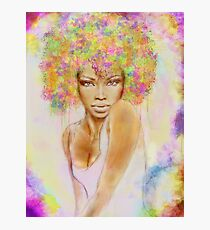 The girl with new hair style Photographic Print