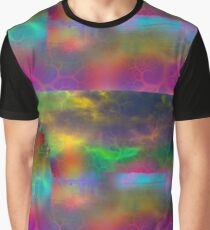 Colorful abstract landscape over lake Graphic T-Shirt