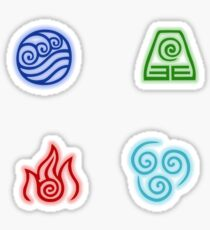 The Four Nations Symbols Sticker