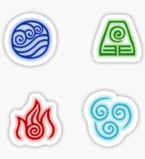 Die Vier-Nationen-Symbole Sticker