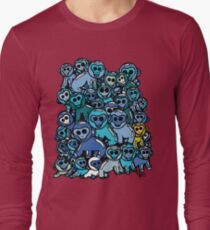The Shiny Blue Monkey Pile Accepts the Odd Monkey Out Long Sleeve T-Shirt