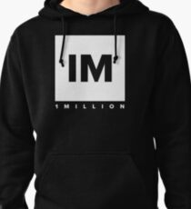1 MILLION Dance Studio Logo (White Version) Pullover Hoodie