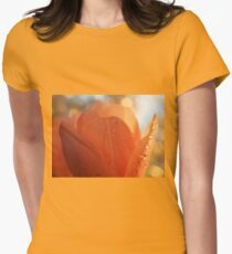Tulip macro close up Womens Fitted T-Shirt