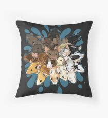 Mousplosion Throw Pillow