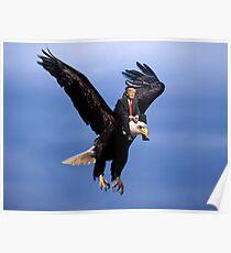 Trump Riding Eagle Poster