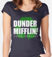 Dunder Mifflin Recycle Women's Fitted Scoop T-Shirt