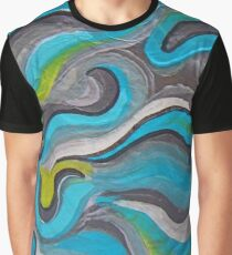 Teal In Motion - 3 Parts Graphic T-Shirt