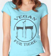 VEGAN FÜR TIERE Women's Fitted Scoop T-Shirt