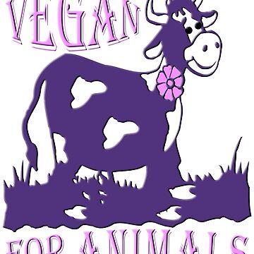 VEGAN FOR ANIMALS von fuxart