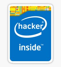 Hacker Inside (Modern) Sticker