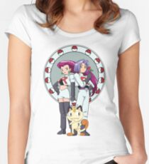 Team Rocket Nouveau Women's Fitted Scoop T-Shirt