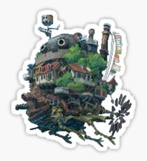 8bit Howl's Moving Castle Sticker