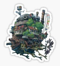 8bit Howl's Moving Castle Sticker