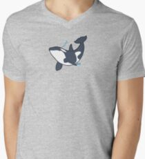 Happy orca Men's V-Neck T-Shirt