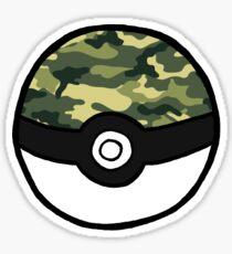Camo Pokeball Sticker