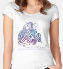 bendy NOT broken (EDS awareness Women's Fitted Scoop T-Shirt