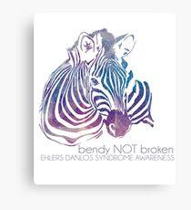 bendy NOT broken (EDS awareness Canvas Print
