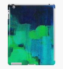 Blue and green abstract iPad Case/Skin