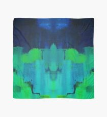 Blue and green abstract Scarf