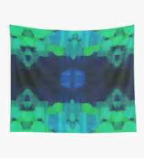 Blue and green abstract Wall Tapestry