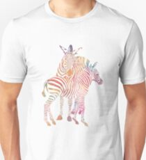 Colourful Zebras Unisex T-Shirt