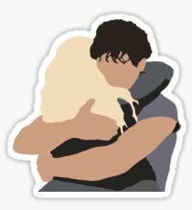 bellamy clarke hug painting Sticker