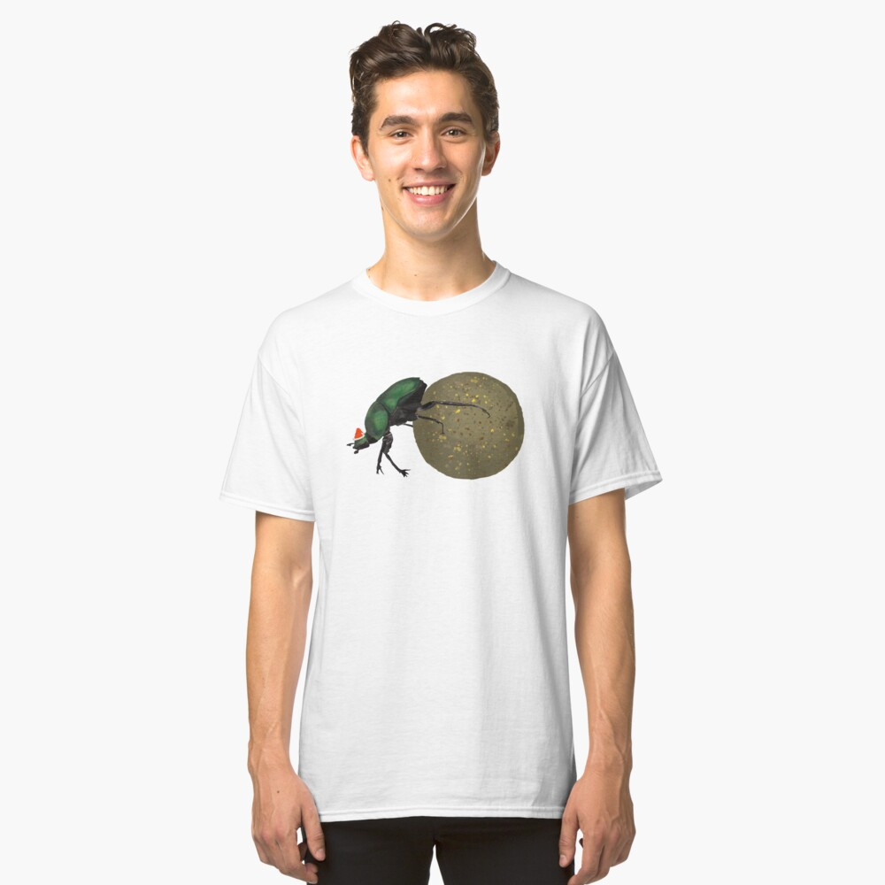 Christmas Dung Beetle Classic T-Shirt Front