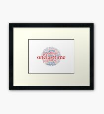 Hamilton- One Last Time- World Cloud Framed Print