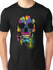 Cool Skull with Colorful Paint Drips and Splatters  T-Shirt