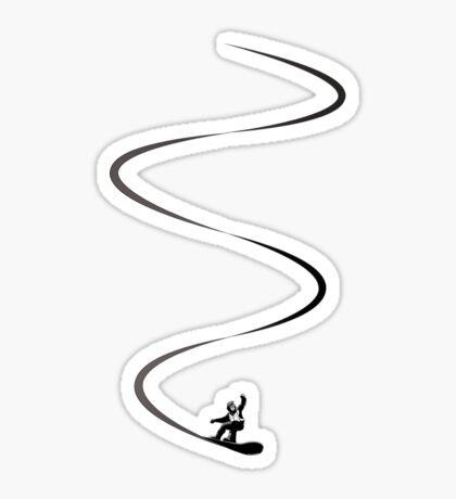 Snowboard lines Sticker