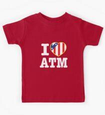 Camiseta para niños Amo a Atleti