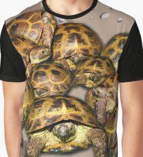 Greek Tortoise Group - Desert Camo Background Graphic T-Shirt