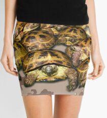 Greek Tortoise Group - Desert Camo Background Mini Skirt