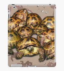 Greek Tortoise Group - Desert Camo Background iPad Case/Skin