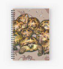 Greek Tortoise Group - Desert Camo Background Spiral Notebook