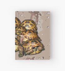 Greek Tortoise Group - Desert Camo Background Hardcover Journal
