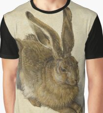 Albrecht Durer - Hare 1502. Young hare painting: cute hare,  hares,  rabbits,  animals,  bunnies,  realistic ,  wild,  animal,  rabbit,  wild animals,  fur  Graphic T-Shirt