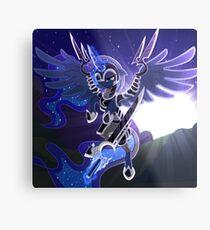 Princess Luna in Armor Metal Print
