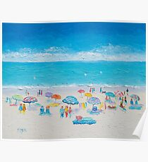 Beach painting - Fun in the sun Poster