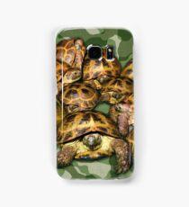 Greek Tortoise Group on Green Camo Samsung Galaxy Case/Skin