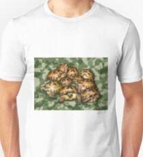 Greek Tortoise Group on Green Camo T-Shirt